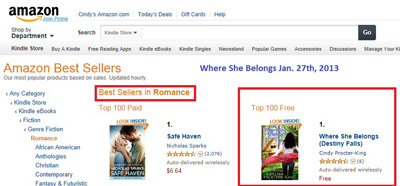 Number one in Romance!!! Woot!!!
