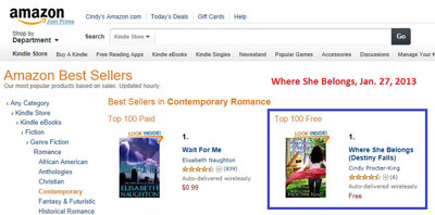 Number One in Contemporary Romance!!