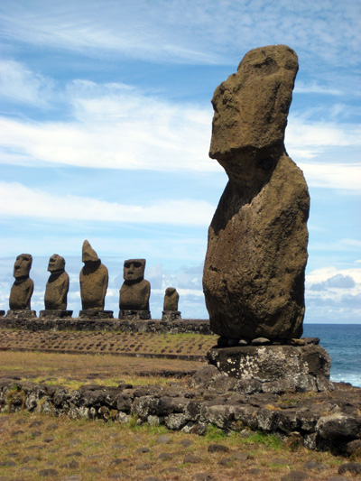 These Moai are walkable from town. The Moai were carved in the Quarry (which we would visit the following day) and somehow transported to near the ocean. There is a lot of information about the Moai on the Interwebs. I'm just gonna show pictures to entice you to visit.