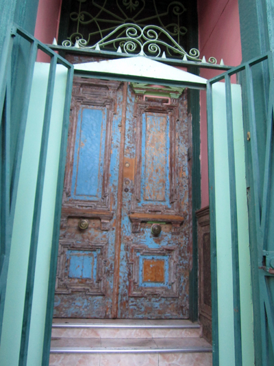 A funky doorway.