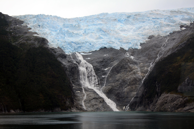 This glacier is obviously melting, which was kind of sad.