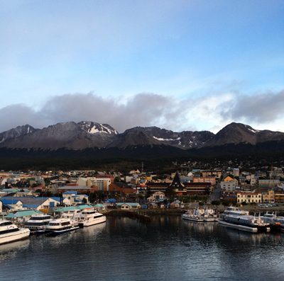A view of Ushuaia just before disembarking from the Stella Australis.