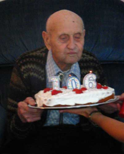 Duke Procter, 106 years old