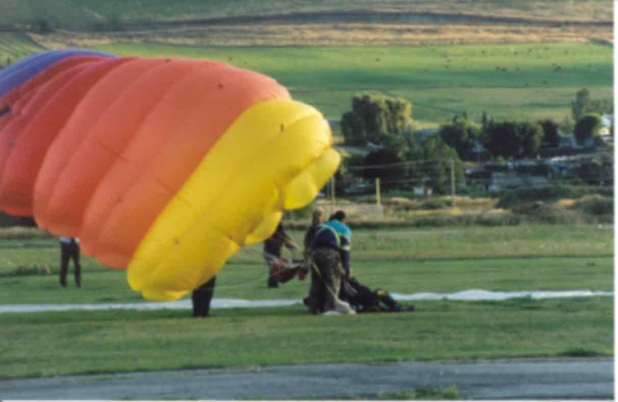Duke Procter skydive landing, September 27,1999